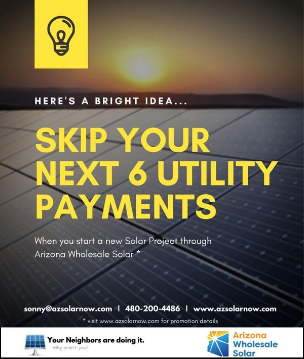 Bright Idea Skip your next 6 utility payments