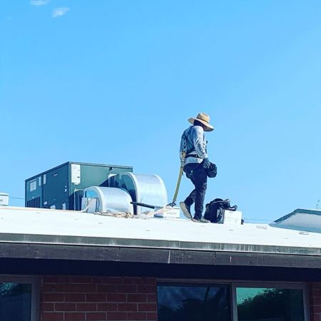 Joey B Installers on Roof August 8  2019 03  1